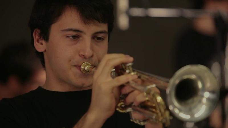 2017 portrait of Louis Armstrong SANT ANDREU JAZZ BAND JOAN MAR SAUQUÉ trompeta