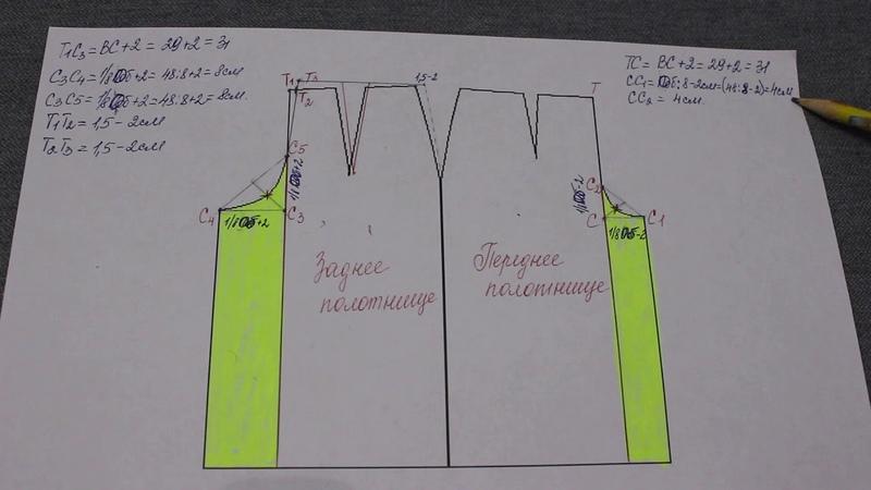 Кюлоты или юбка брюки Как выкроить за несколько минут на основе базовой выкройки прямой юбки