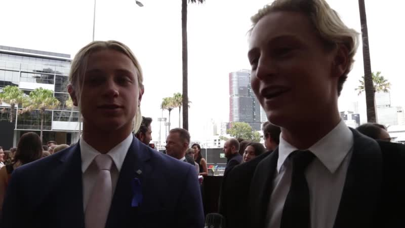 Samson Coulter and Ben Spence at AACTA 2018 red carpet