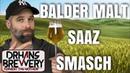 Balder Saaz SMASH Lager Pilsner all grain beer recipe grain to glass