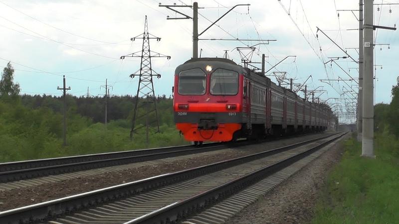 Электропоезд ЭД4М 0243 перегон Монино Фрязево