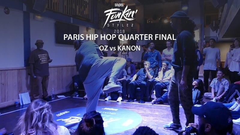 Funkin' Stylez Paris preselections - Hip hop quarter final : Kanon vs Oz | Danceproject.info