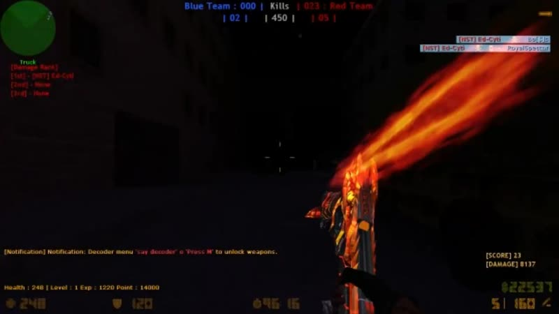 CSO Dual Beretta Gunslinger Flame Vulcano | AMXX CS 1.6 by NST Ed-Cyti