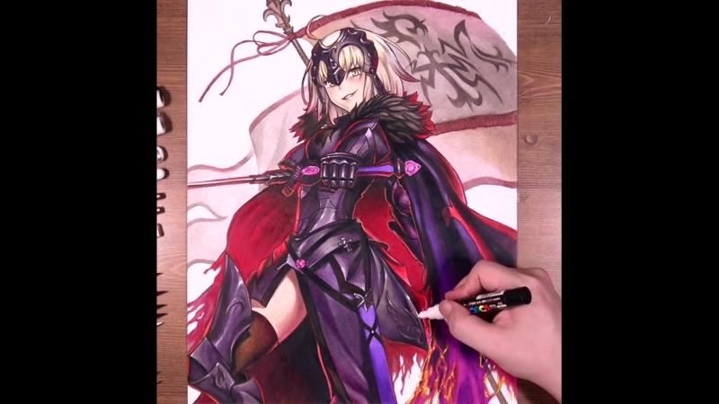 Рисуем Jeanne d'Arc из игры «Fate/Grand Order»