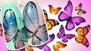 🦋 Блестящие Бабочки 🦋 Весенний Дизайн Ногтей Рисунок Блестящими Гель лаками для Весеннего Маникюра