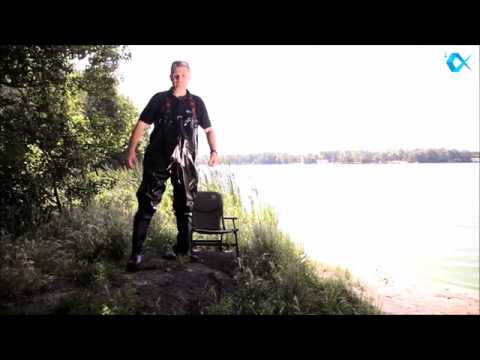 Shiny Black Rubber Chest Waders