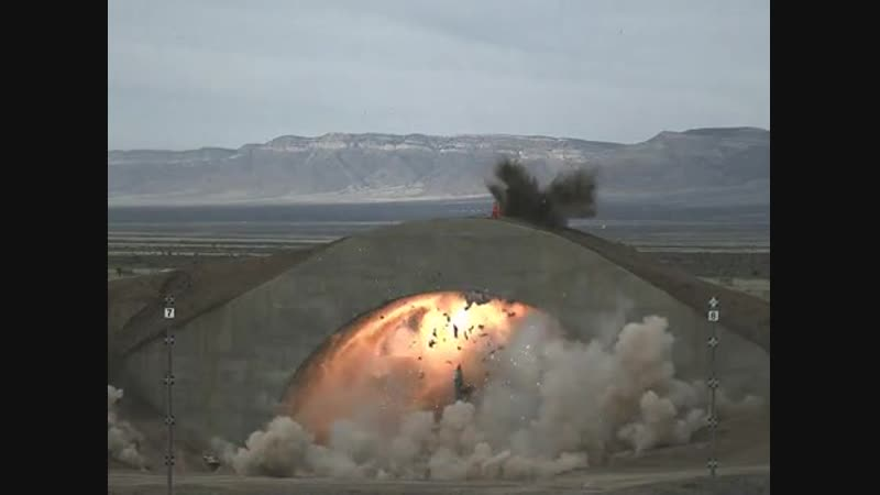 Bunker buster bomb in slow motion.
