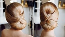 Simple Formal Cute Hair Do Tutorial Elegant red carpet Low bun Idea