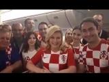 Президент Хорватии на русском языке поблагодарила Россию и попросила болеть за хорватов.