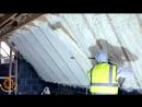 Как утепляют пеной стены домов и мансарды