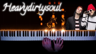twenty one pilots - Heavydirtysoul - piano version | tutorial | how to play