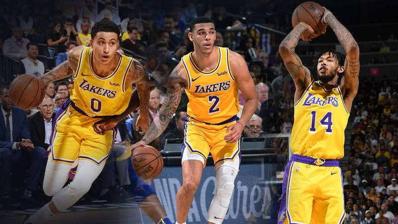 Лучшие моменты Ингрэма, Кузмы и Болла в матче против Голден Стэйт в предсезонке НБА 2018 года