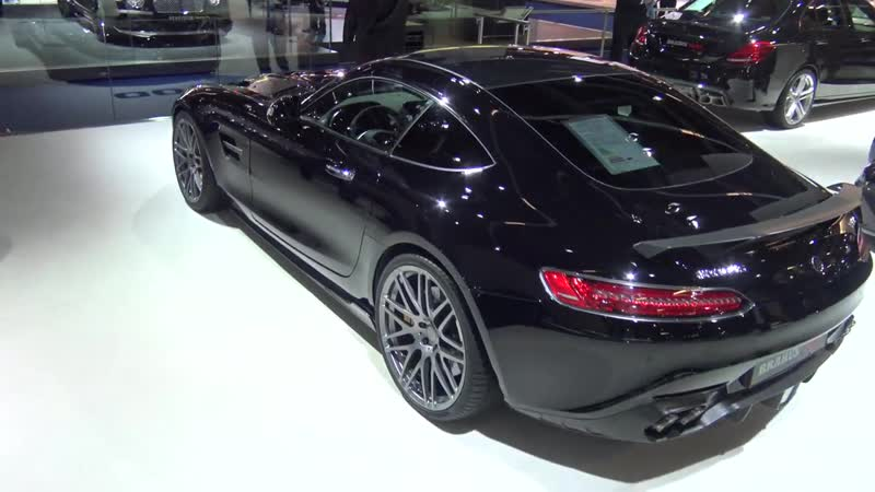 Brabus Mercedes GT-S 600 HP Coupe along with Mercedes CEO during Frankfurt