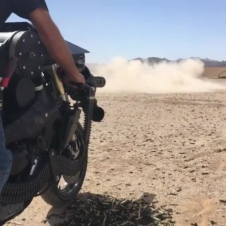 Minigun motorbike