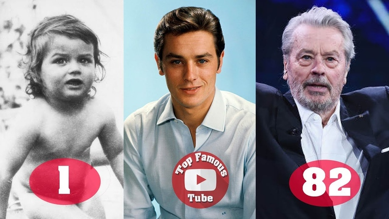 Alain Delon | Transformation From 1 To 82 Years Old