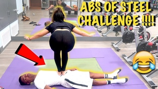 INSANE ABS OF STEEL CHALLENGE!! (STANDING STOMACH OF STEEL CHALLENGE)