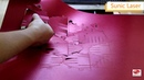 Argus Laser cắt 400 * 300mm Pop up cards chỉ 9 giây