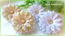 Канзаши/Цветы из узких лент/Narrow Ribbon Flowers/Flor de fita/Ola ameS DIY