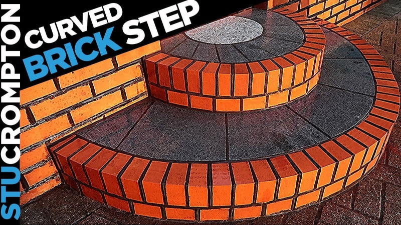 Building a Curved Brick Step