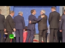 EU's Juncker filmed losing his balance at NATO summit