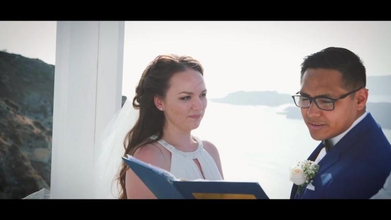 Elizabeth Uriel, Santorini Wedding