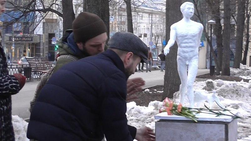 Пермяки поставили памятник «футуристу жизни» Владимиру Гольцшмидту