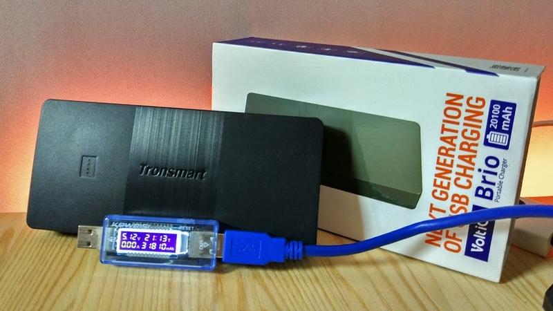 Power bank Tronsmart PBD20 Brio 20100 mAh ⚡ Самый мощный повер банк от тронсмарт 🔋 обзор, тест