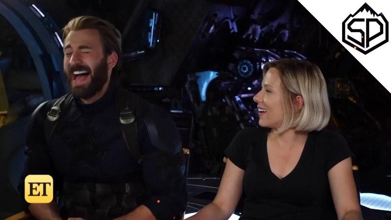 Интервью со Скарлетт Йоханссон и Крисом Эвансом | Мстители: Война Бесконечности
