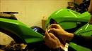 Карбоновая накладка на бензобак Kawasaki Ninja 250R 2008 2012 Pad Protector