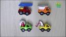Cars Play 4 Sand Cars | Car Toy Play Set