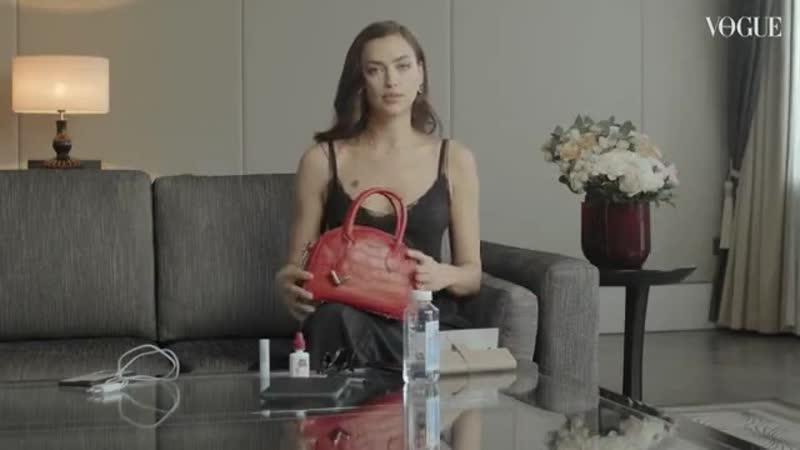 Дёготь с гвоздями в уши слушателям сегодня заливает супермодель Ира Шейк, которая сама задизайнировала себе сумку.
