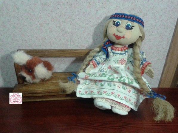 Шарнирная кукла Анфиса.