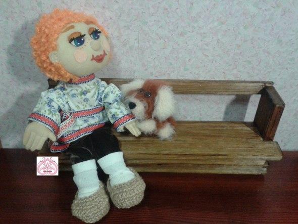 Текстильная шарнирная кукла Егор.