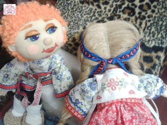 Прически текстильных кукол.