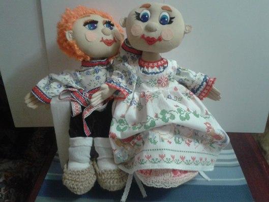 Текстильные куклы для дачи.