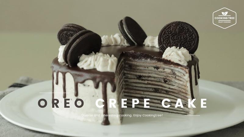 오레오 크레이프 케이크 만들기 Oreo Crepe Cake Recipe - Cooking tree 쿠킹트리*Cooking ASMR