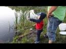 Сын в 2,4 года поймал свою первую рыбку