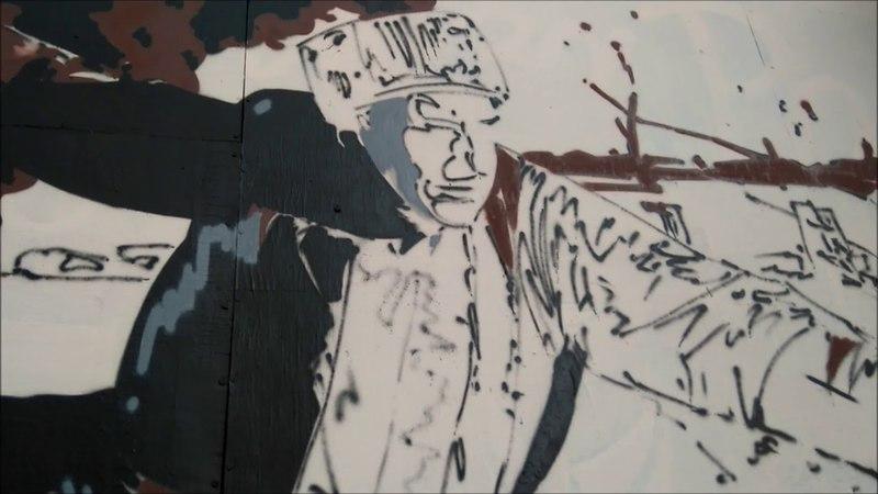 Создание патриотического граффити к 9 Мая