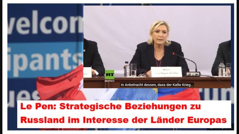Le Pen: Strategische Beziehungen zu Russland im Interesse der Länder Europas