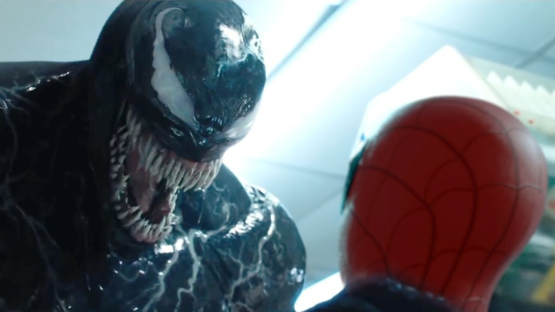 VENOM Eats SPIDER-MAN | VENOM Trailer Final Scene (HD)