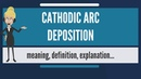 What is CATHODIC ARC DEPOSITION? What does CATHODIC ARC DEPOSITION mean?
