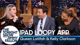 Jimmy, Kelly Clarkson and Queen Latifah Create a Doo-Wop Song on an iPad