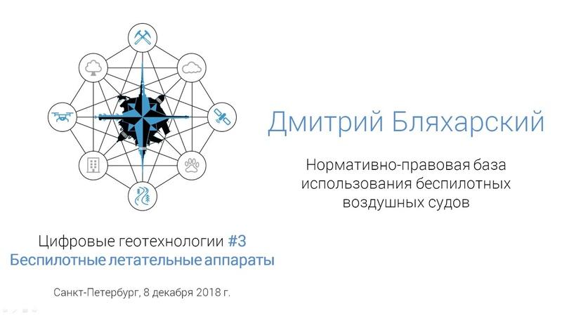 Дмитрий Бляхарский. Нормативно-правовая база использования беспилотных воздушных судов (спбгеотех)
