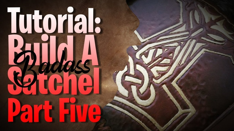 Build A Leather Satchel Embossing The Tree Of Life Part 5 A ❤ leathercraft tutorial