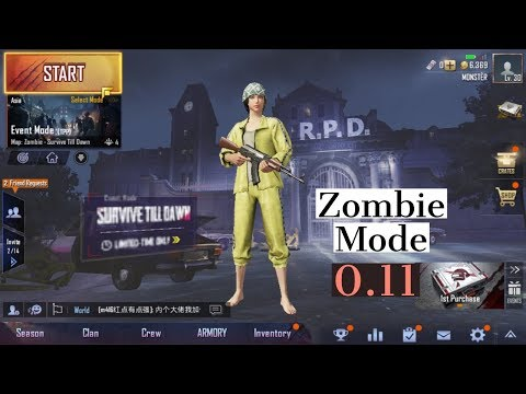 Zombie mode new update 0.11 || PUBG MOBILE || ( Live )ZOMBIEMODE NEWUPDATE