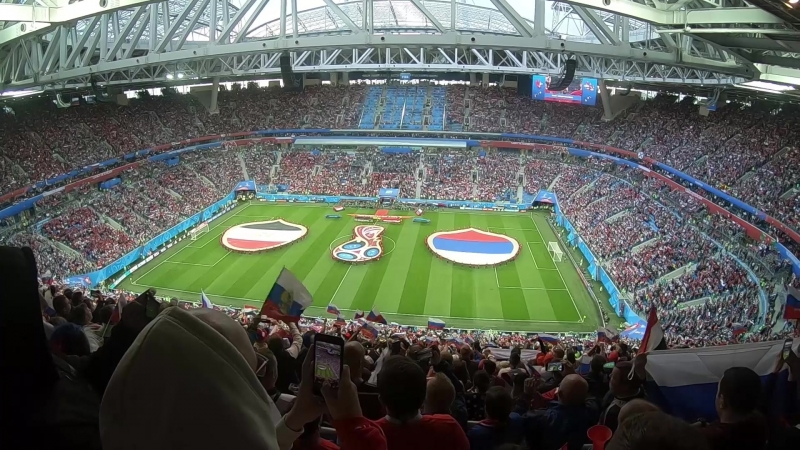 ФК Тотем посетил матч Россия-Египет в Санкт-Петербурге