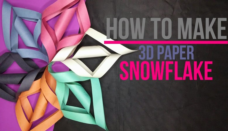 How to Make a 3D Paper Snowflake [DIY] by Brain Washer