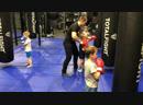 Александр Гилев - детская тренировка по тайскому боксу