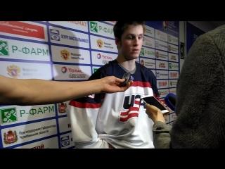 Американский хоккеист после проигрыша Канаде. Юниорский чемпионат мира по хоккею 2018