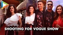 Vicky Kaushal Taapsee Pannu Shooting For Neha Dhupia's Vogue Show